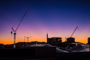The sun sets on Brisbane's skyline of cranes, soon the market will be in under-supply.